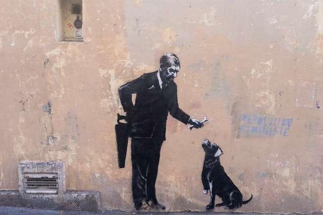 Plusieurs œuvres attribuées à Banksy apparaissent sur les murs de Paris