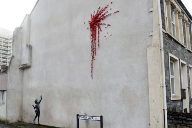 Banksy revendique un nouveau pochoir spécial Saint-Valentin
