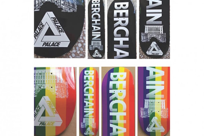 La marque de streetwear Palace lance une planche de skate Berghain