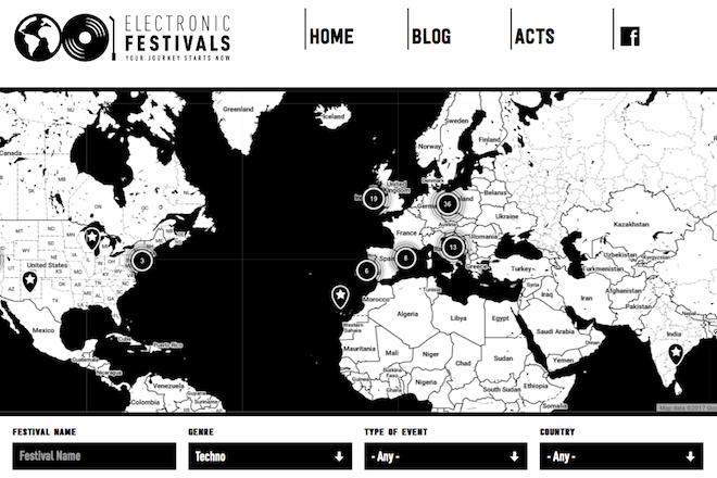 Electronic Festivals : la carte interactive du globe-raver