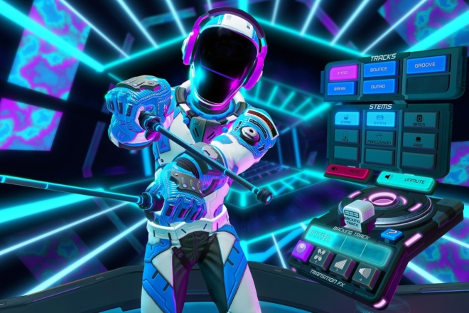 Inspiré de l'univers de Tron, ce jeu vidéo vous plonge dans le DJing en VR