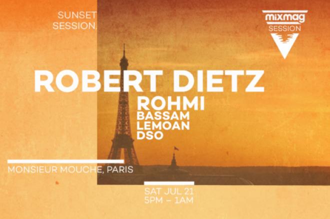 Paris : Mixmag présente Sunset Session avec Robert Dietz, Rohmi, Bassam, Lemoan et DSO