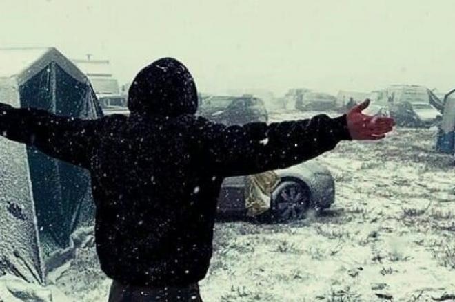 Le teknival 2019 finit sous la neige et dans le froid