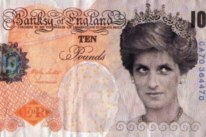 Un billet de banque signé Banksy entre au British Museum
