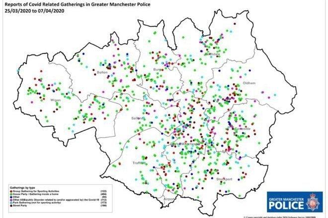 En plein confinement, la police de Manchester a mis fin à 660 fêtes