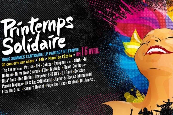 Printemps Solidaire réunit 30 artistes en plein coeur de Paris ce dimanche