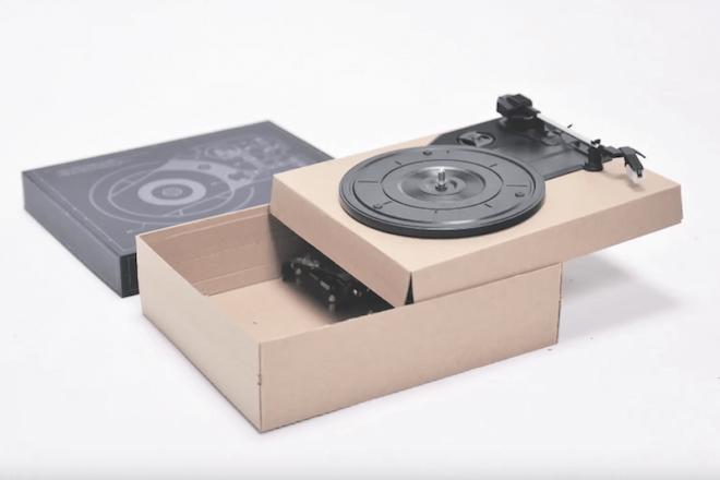 SpinBox, le tourne-disque portable à monter soi-même.