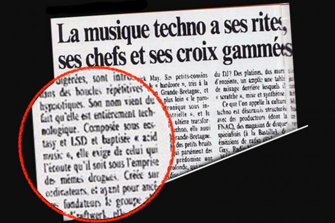 Un article historique de 1993 démonisant la scène techno ressurgit des archives de 'L'Humanité'